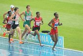 BARCELONA, SPAIN - JULY 29: Competitors of 5000m Men during the 20th European Athletics Championship