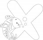 foto of x-ray fish  - Coloring Page Illustration Featuring an X - JPG