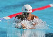 BARCELONA, SPAIN - JUNE. 14: Japanese olympic champion Kosuke Kitajima swims Breastroke during the M