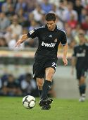 BARCELONA - SEPT. 12: Xabi Alonso of Real Madrid in action during a Spanish League match against RCD Espanyol at the Estadi Cornella-El Prat on September 12, 2009 in Barcelona, Spain