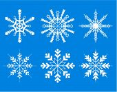 snowflakes -decorative elements