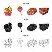 Isolated Object Of Confectionery And Culinary Sign. Collection Of Confectionery And Product Vector I poster