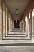 pic of munich residence  - Long Arcade at the Hofgarden in Munich  - JPG