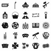 Adult Icons Set. Simple Set Of 25 Adult Icons For Web Isolated On White Background poster