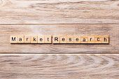 Market Research Word Written On Wood Block. Market Research Text On Wooden Table For Your Desing, Co poster