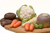 Cauliflower, Potatoes & Carrots.