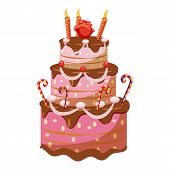 Princess Cake Icon. Cartoon Illustration Of Princess Cake Icon For Web poster
