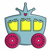 Princess Carriage Icon. Cartoon Illustration Of Princess Carriage Icon For Web Design poster