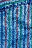 Blue Washed Faded Jeans Striped Texture With Seams poster