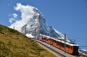 Gornergrat Train And Matterhorn (monte Cervino), Switzerland Landmark