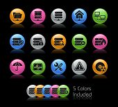 Network & Hosting Icons / The file Includes 5 color versions in different layers.