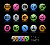 Media Icons / The file Includes 5 color versions in different layers. poster