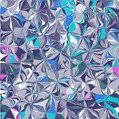 Metallic Foil Texture. Shiny Foil Paper. Holographic Vector Background. Iridescent Foil. Glitch Holo poster