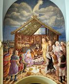 Nativity scene, creche, or crib, is a depiction of the birth of Jesus