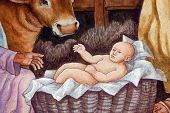 Baby Jesus, A nativity scene, creche, or crib, is a depiction of the birth of Jesus