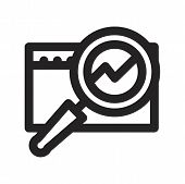Search Vector Icon On White Background. Search Icon In Modern Design Style. Search Vector Icon Popul poster