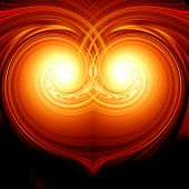 stock photo of soulmate  - Abstract burning heart in the colors yellow and orange - JPG
