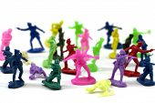 Colorful toy soldiers