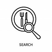 Search Icon Isolated On White Background. Search Icon Simple Sign. Search Icon Trendy And Modern Sym poster