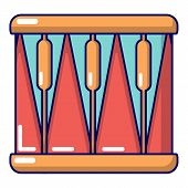 Bass Drum Icon. Cartoon Illustration Of Bass Drum Icon For Web Design poster