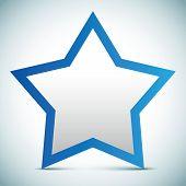 Vector star banner - empty text frame