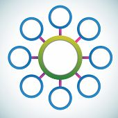 Presentation color circles template