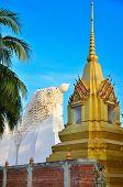 Pagoda and large buddha statue of Ayuthaya temple
