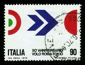 50º Aniversário do vôo de Arturo Ferrarin de Roma a Tóquio