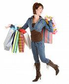 junge Frau einen Einkaufsbummel