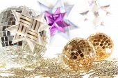 Mirror Xmas Balls And Origami Stars