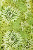 Green Kebaya With White Flowers