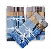 Set of three handkerchiefs