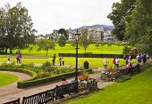 A Busy Crow Park In Keswick, Cumbria