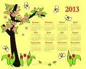 2013 Colorful calendar