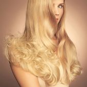 foto of posh  - Photo of young beautiful lady with magnificent blond hair - JPG