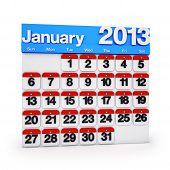 Calendar January 2013