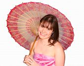 Smiling Teen Umbrella Sunny poster