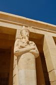 stock photo of hatshepsut  - Statue Of Hatshepsut At Hatshepsut Temple - JPG