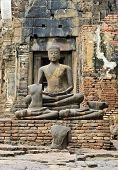 Ancient Buddha Ruins Statue