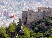 Ruins Of Old City In Alania, Turkey