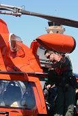 Us Coast Guard Pilot Prepares For Flight