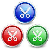 Set of 3 popular buttons - edit