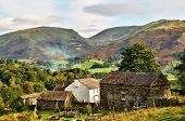 Traditional Farmhouse and Lakeland fells