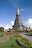 Napametaneedol Pagoda On Top Of Mountain, Thailand