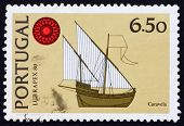 Postage stamp Portugal 1980 Caravel, ship