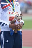 DONETSK, UKRAINE - JULY 13: Sabrina Bakare of Great Britain win gold in 400 metres during 8th IAAF W