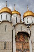 Decoration Of Dormition Cathedral In Kremlin