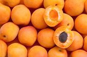 Apricot. Healthy food, background.