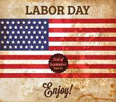 Labor day vintage vector. Paper grunge background texture