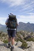 Old Man Hiking On Mountain Top 2